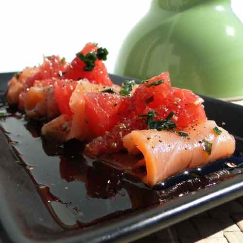 recette salade saumon fum et pamplemousse. Black Bedroom Furniture Sets. Home Design Ideas